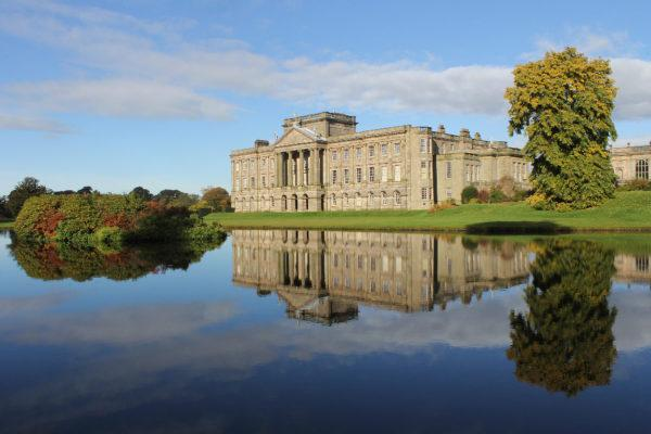 Lyme Park estate with surrounding garden